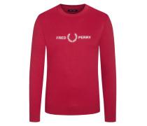 Sweatshirt mit Logo-Stickerei in Rot