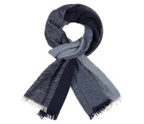 Schal mit Fransen in Blau