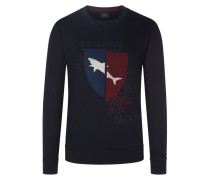 Sweatshirt mit Front-Applikation in Marine