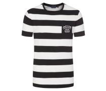 T-Shirt, Custom Slim Fit in Schwarz