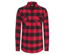 Flanellhemd, mit zwei Brusttaschen in Rot