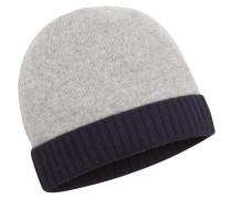 Mütze, 100% Kaschmir in Grau für Herren