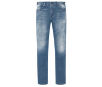 Jeans im Used Look, Regular Fit in Denim für Herren