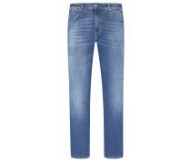 Modische Denim-Jeans, Hopper in Blau