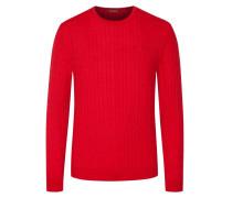 Pullover mit Zopfmuster in Rot für Herren
