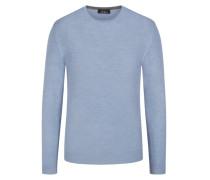 Pullover mit Seidenanteil in Hellblau