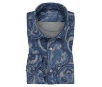 Flanellhemd mit Paisley-Muster in Marine für Herren
