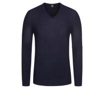 Pullover in Reiskorn-Optik in Blau für Herren