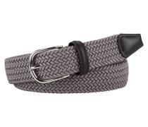Flechtgürtel mit runder Schließe in Grau für Herren