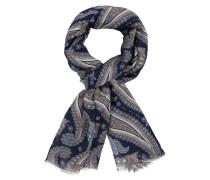 Schal mit Paisley-Muster in Blau