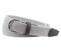Flechtgürtel mit runder Schließe in Silber für Herren