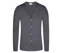 Strickcardigan, Petworth, Regular Fit in Grau für Herren