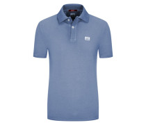 Poloshirt in Piqué-Qualität, Re-Colour, Slim Fit in Hellblau