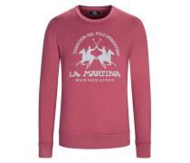 Sweatshirt, O-Neck, mit Frontprint in Rot für Herren