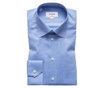 Oberhemd, Contemporary Fit in Blau für Herren