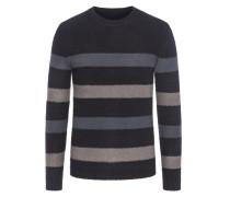 Pullover im Ringelmuster in Schwarz