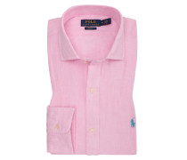 Leinenhemd, Slim Fit in Rose für Herren