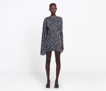 Asymmetrisch drapiertes Kleid