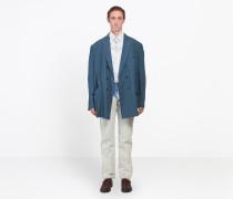 Zweireihige Jacke in gewaschener Optik