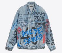 Graffiti-Jacke mit großzügiger Passform