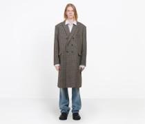 Zweireihiger Mantel in gewaschener Optik