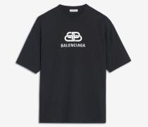 BB Balenciaga T-Shirt mit Oversize-Passform