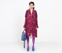 Flou-Kleid mit halbbetonter Passform