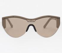 Ski Cat Sonnenbrille aus schwarzem Acetat