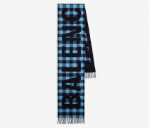 Checked Oversize Scarf