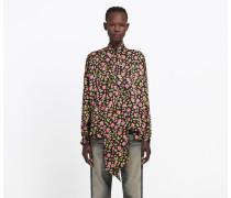 Vareuse-Bluse mit Rosen-Print