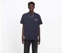 Oversized T-Shirt mit Balenciaga Logo-Print