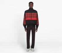 80er-Sweater aus Popeline