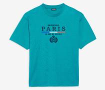 T-Shirt in normaler Passform mit Paris-Flaggen-Motiv