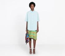 Balenciaga Hemdbluse mit kurzen Ärmeln
