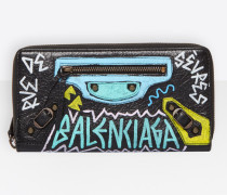 Classic Continental Zip Around Graffiti