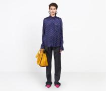 Kokon-Bluse in Slim-Passform