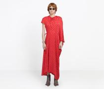 Kleid mit seitlich gezogener Struktur