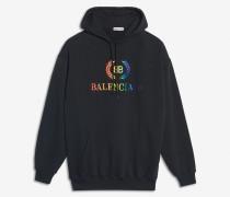 Hoodie mit regenbogenfarbenem BB-Motiv