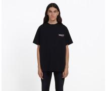 T-Shirt mit Balenciaga Logo-Print