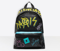 Explorer-Rucksack mit Graffiti