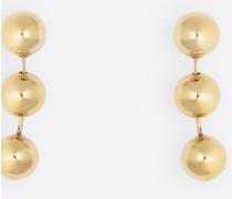 Metallperlen-Ohrringe
