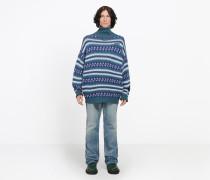 Jacquard-Pullover mit Rollkragen