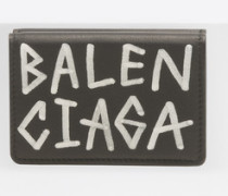 Carry Mini-Portemonnaie mit Graffiti
