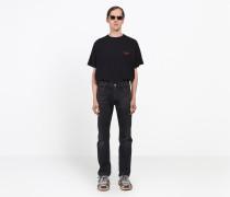 5-Pocket-Jeans mit Destroyed-Saum