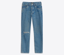 Skinny-Jeans mit Löchern auf Kniehöhe