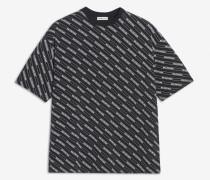 Oversize-T-Shirt mit durchgehendem Logo-Motiv