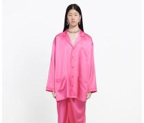 Pyjama-Bluse mit Brusttasche