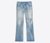 Bootcut-Jeans mit Knieloch
