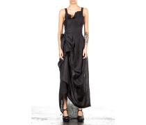 Damen Leinenkleid schwarz