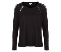 Langarm Shirt MESH schwarz